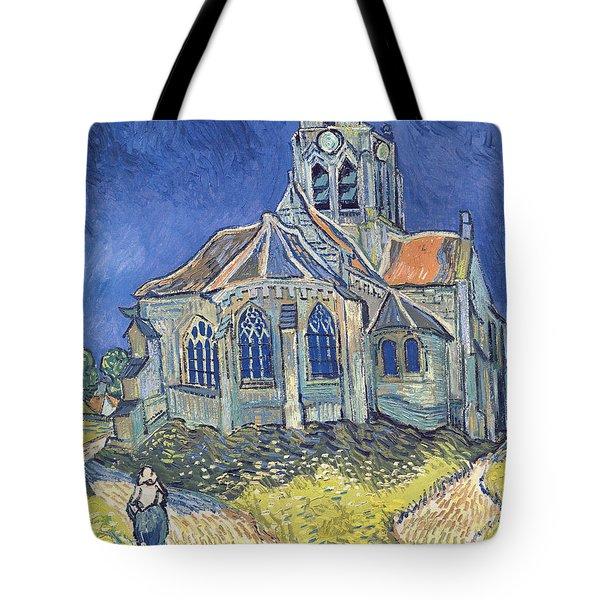 The Church At Auvers Sur Oise Tote Bag by Vincent Van Gogh