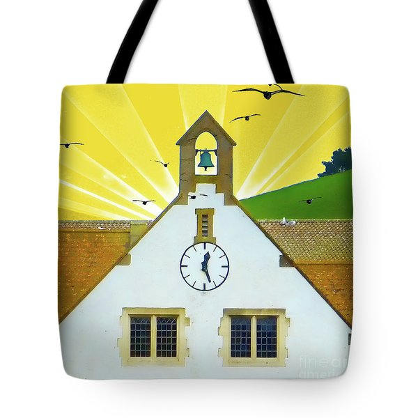 Tote Bag featuring the photograph The Church Bell by LemonArt Photography