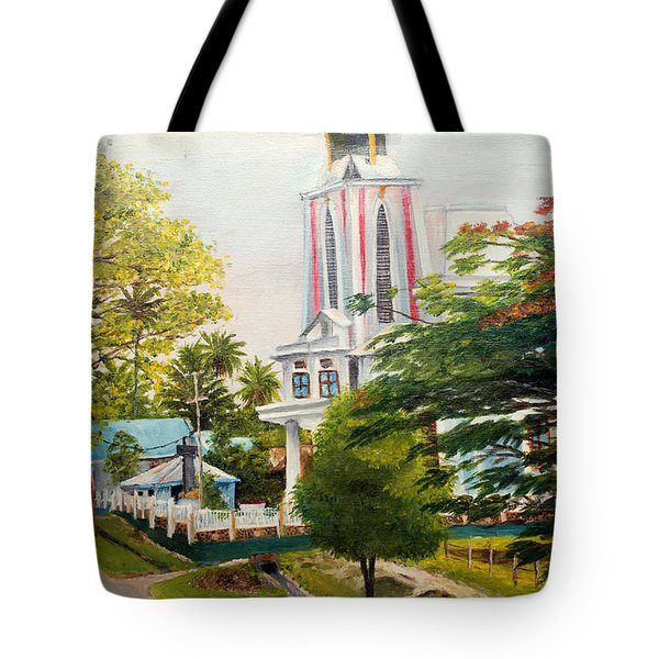 The Church In My Village Tote Bag