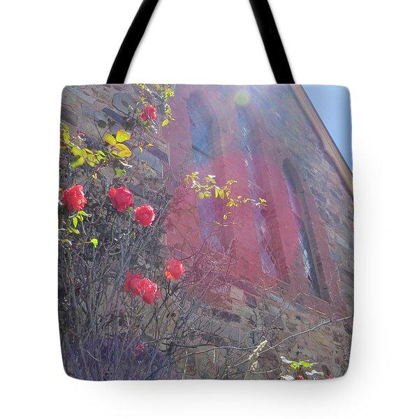 The Church Rose Tote Bag