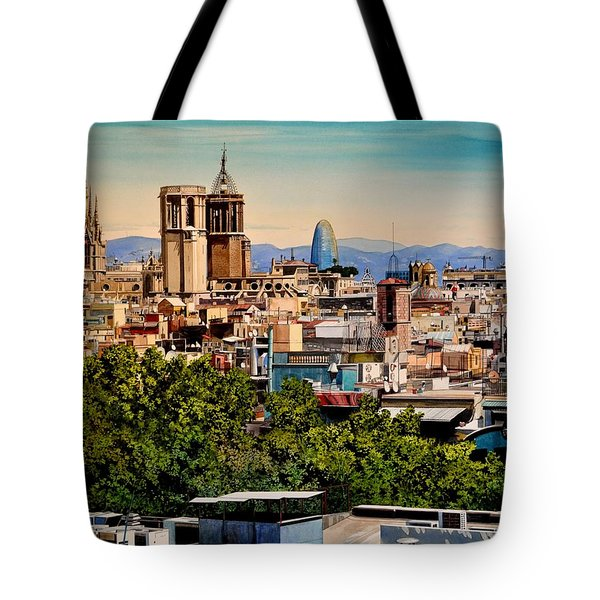 The Church's Of Barcelona Tote Bag