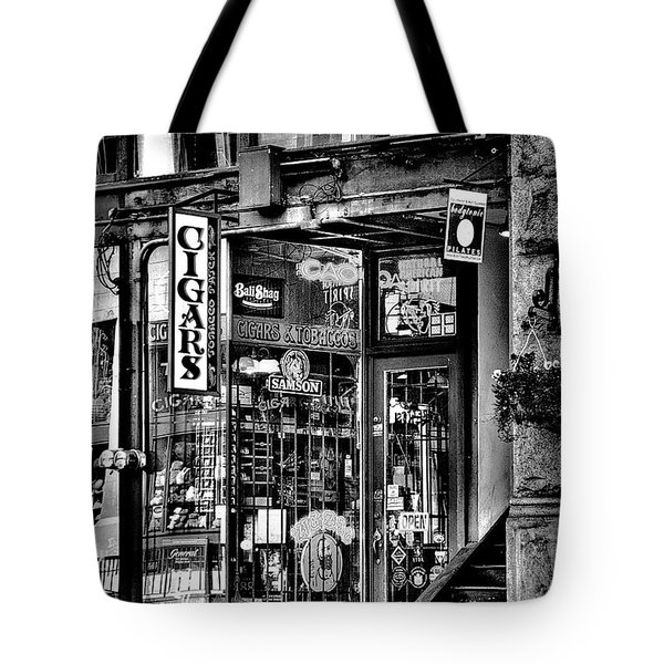 The Cigar Store Tote Bag by David Patterson
