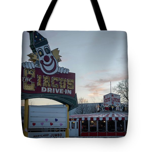 Tote Bag featuring the photograph The Circus Drive In Wall Township Nj by Terry DeLuco