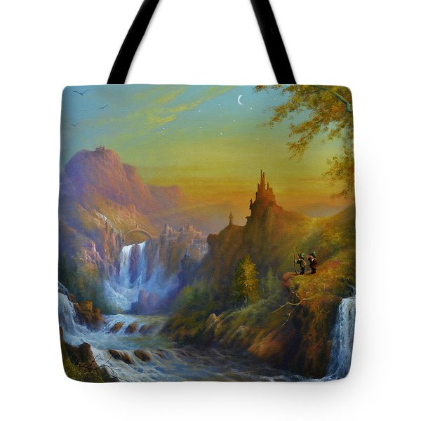 The Citadel Under The Moon Tote Bag