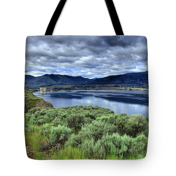 The City And The Clouds Tote Bag by Tara Turner
