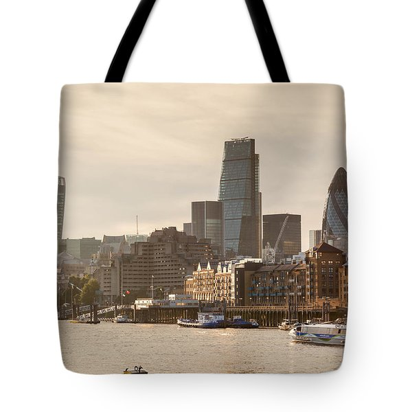 The City At Dusk Tote Bag
