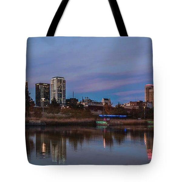 The City At Sunset Tote Bag by Phillip Burrow