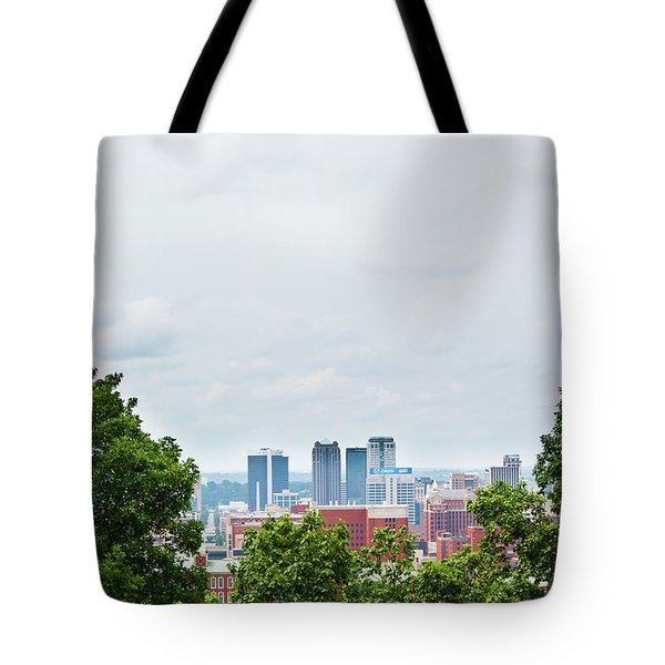 Tote Bag featuring the photograph The City Beyond by Shelby Young