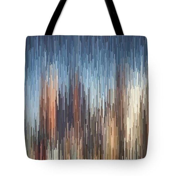 Tote Bag featuring the digital art The Cities by David Manlove