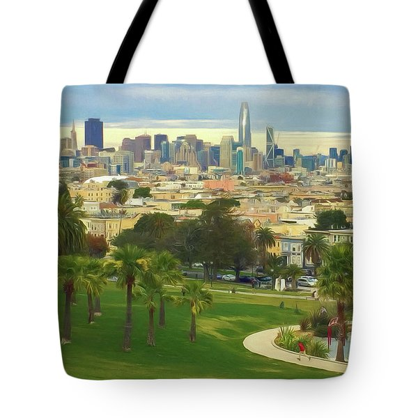 The City From Dolores Park Tote Bag