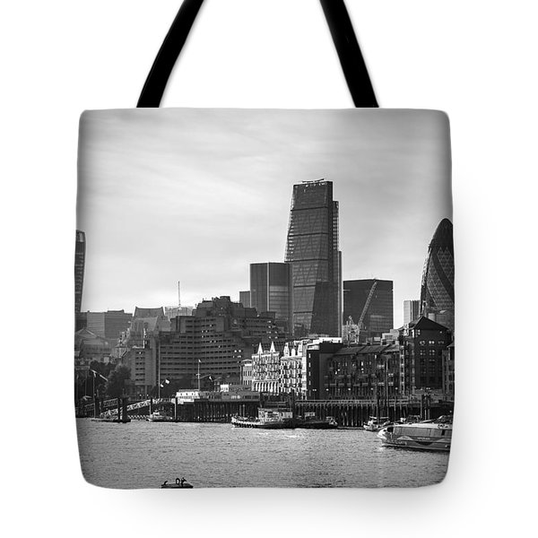 The City In Mono Tote Bag