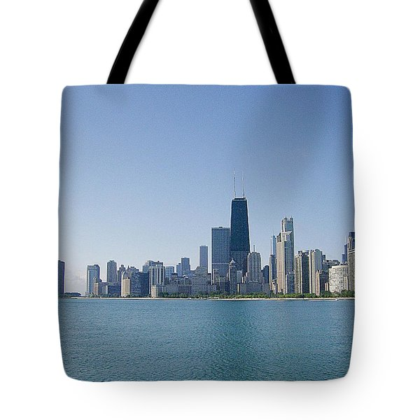 Tote Bag featuring the photograph The City Of Chicago Across The Lake by Skyler Tipton
