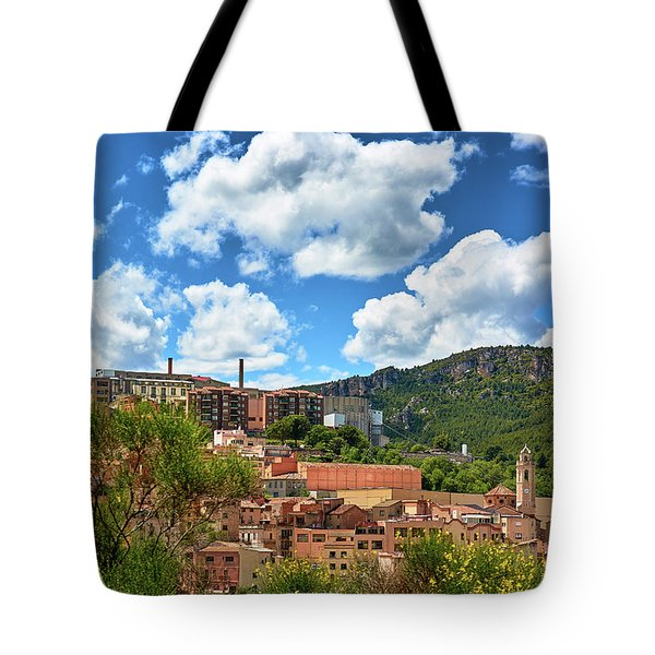 Tote Bag featuring the photograph The City Of Tarragona And A Beautiful Sky by Eduardo Jose Accorinti