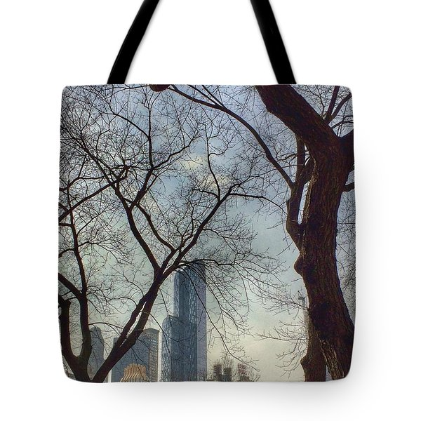 The City Through The Trees Tote Bag