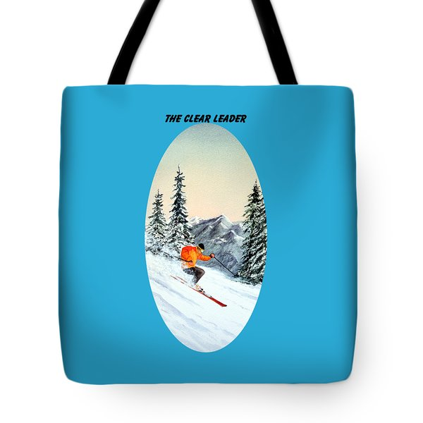 The Clear Leader Skiing Tote Bag by Bill Holkham