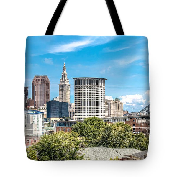 The Cleveland Skyline Tote Bag by Brent Durken