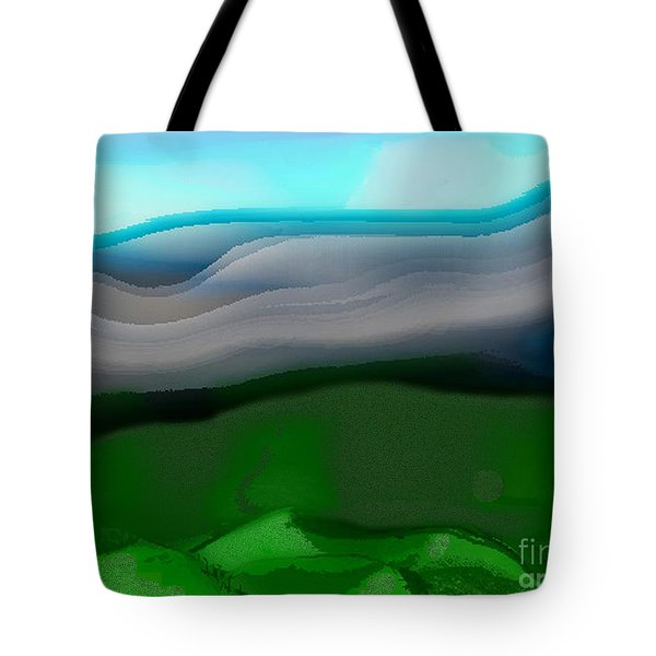 The Hilltop View Tote Bag