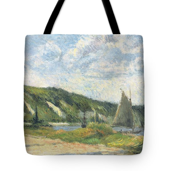 The Cliffs Of La Bouille Tote Bag