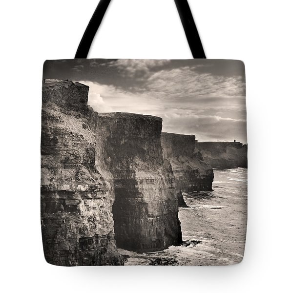 The Cliffs Of Moher Tote Bag by Robert Lacy