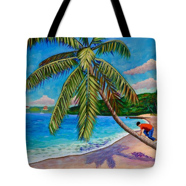 The Climb Tote Bag by Laura Forde