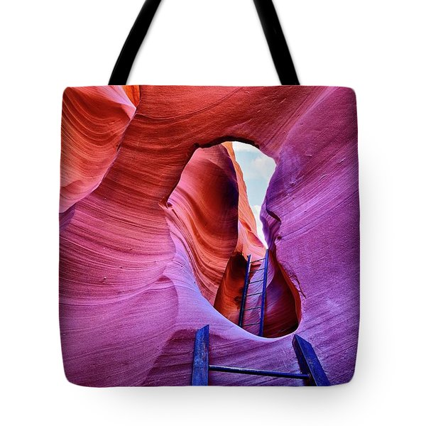 Tote Bag featuring the photograph The Climb by T A Davies