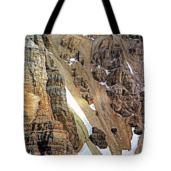 The Climb To Abbot's Hut Tote Bag by Steve Harrington