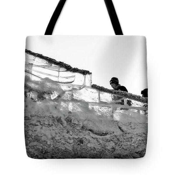 Tote Bag featuring the photograph The Climbers by John Williams