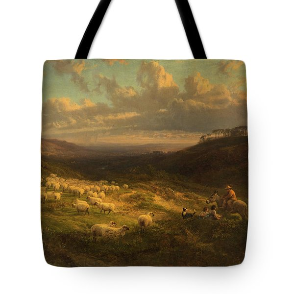 The Closing Day, Scene In Sussex Tote Bag by George Vicat Cole