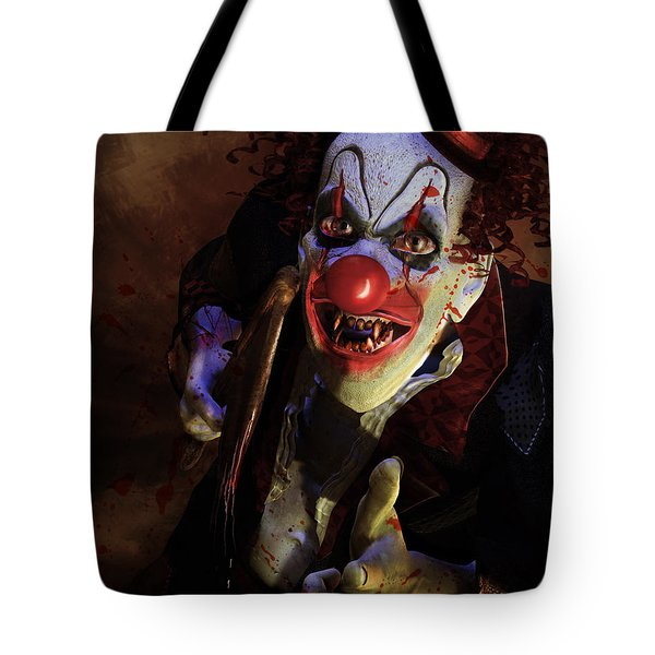 The Clown Tote Bag by Mary Hood