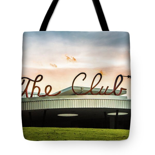Tote Bag featuring the photograph The Club Panorama by Parker Cunningham