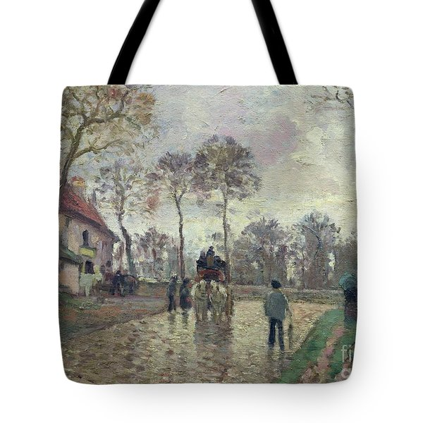 The Coach To Louveciennes Tote Bag by Camille Pissarro