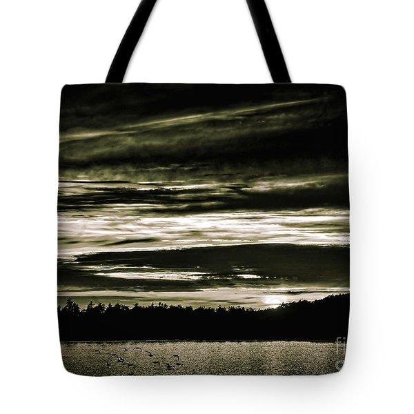 The Coast At Night Tote Bag