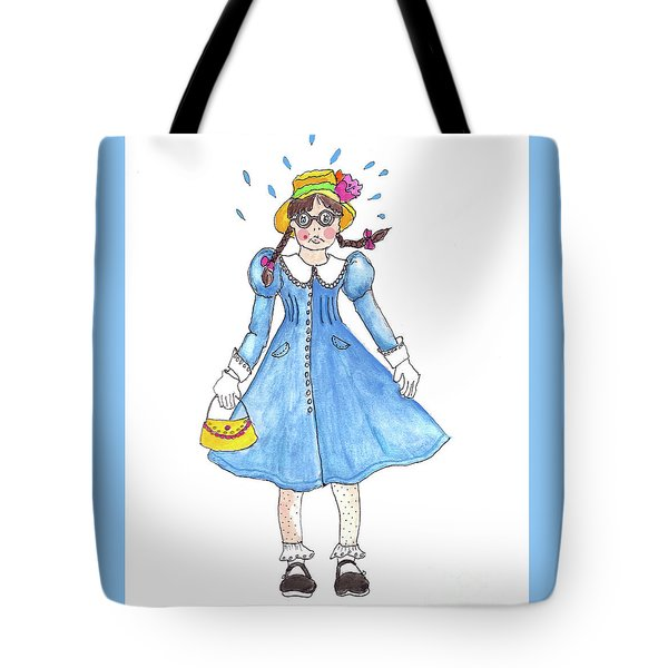 Tote Bag featuring the painting The Coat Of Not So Many Colors by Rosemary Aubut