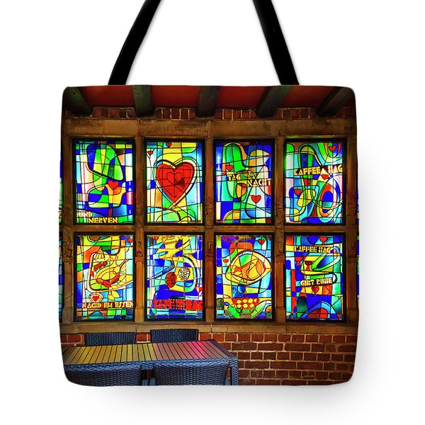 Tote Bag featuring the photograph The Coffee Shop On Bottcherstrasse Bremen by Carol Japp
