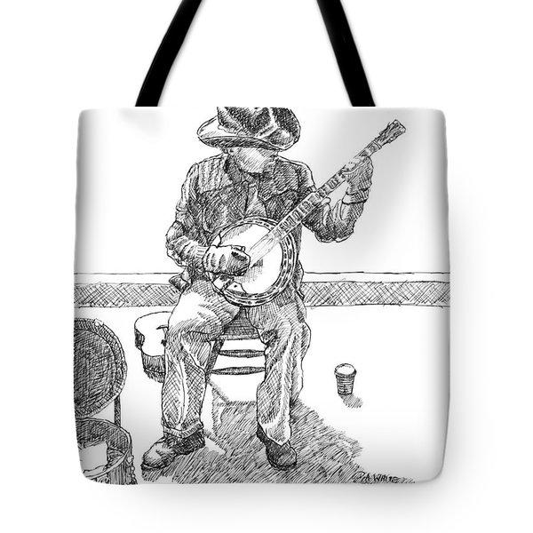 The Cold Banjo Player Tote Bag