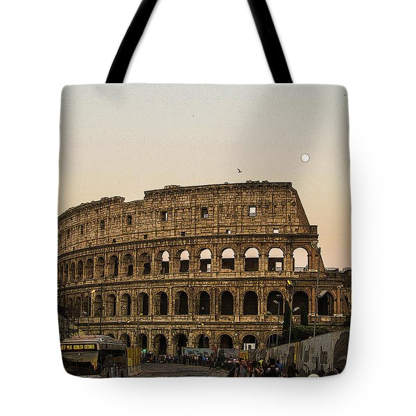 The Coliseum And The Full Moon Tote Bag