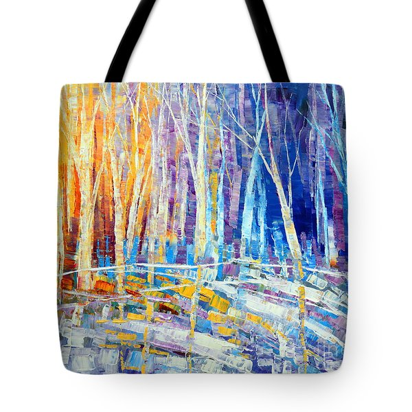 The Color Of Snow Tote Bag by Tatiana Iliina