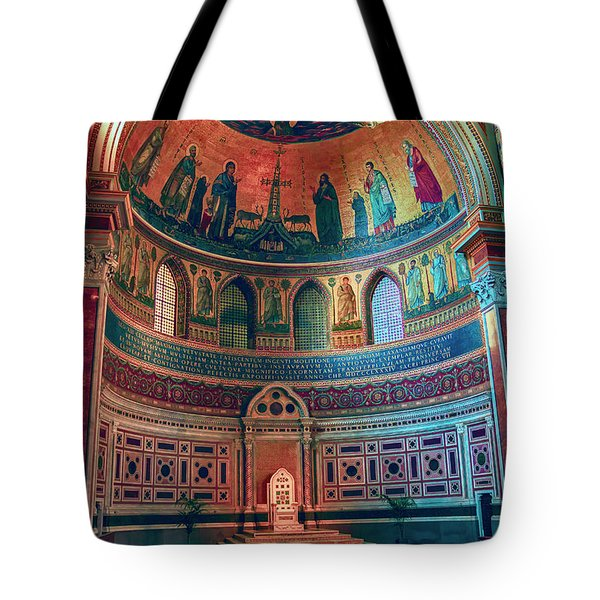 The Colorful Interior Of Roman Catholic Cathedral Tote Bag
