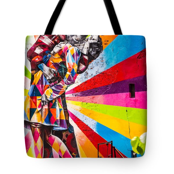 The Colorful Kiss Tote Bag