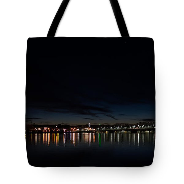 The Colors Of A Nightly Bridge Tote Bag