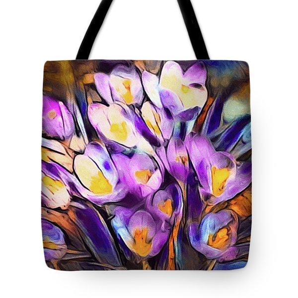 The Colors Of Crocus Tote Bag