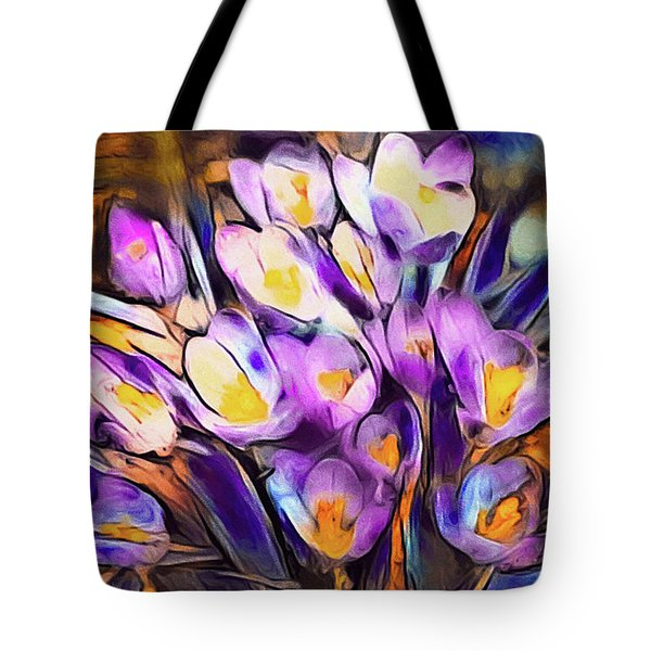 The Colors Of Crocus Tote Bag