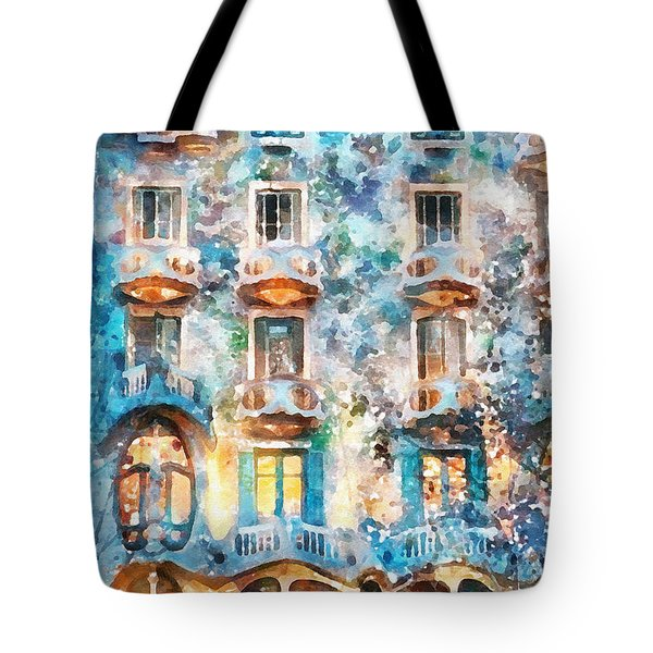 The Colors Of Spain Tote Bag by Shirley Stalter