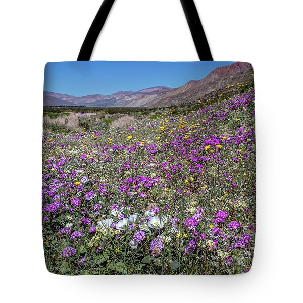 Tote Bag featuring the photograph The Colors Of Spring Super Bloom 2017 by Peter Tellone