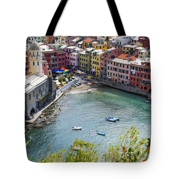 The Colors Of Vernazza Tote Bag by Brad Scott