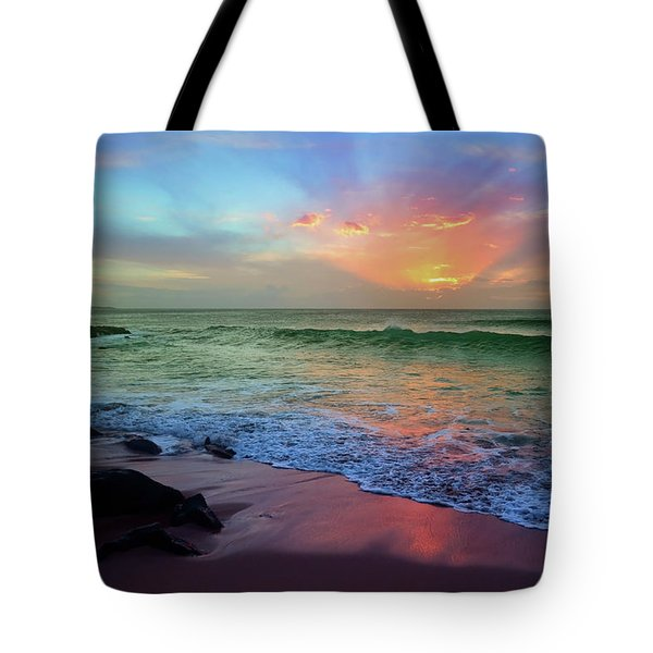 Tote Bag featuring the photograph The Colour Before The Darkness by Tara Turner