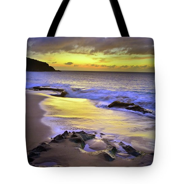 Tote Bag featuring the photograph The Colour Of Molokai Nights by Tara Turner