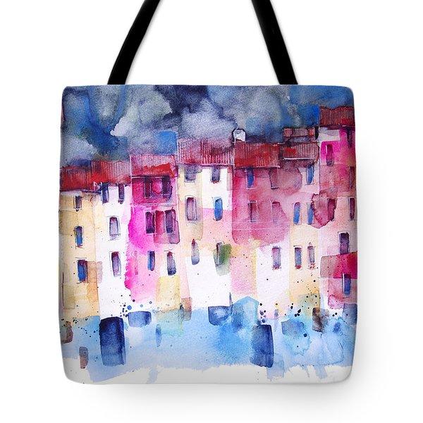 The Coloured Houses Of Portofino Tote Bag by Alessandro Andreuccetti