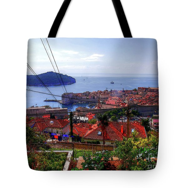 The Colourful City Of Dubrovnik Tote Bag