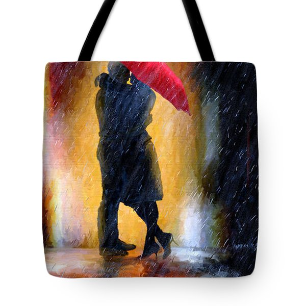 Tote Bag featuring the painting The Colours Of Love by James Shepherd